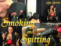 Smoking& spitting& Stiefellecker